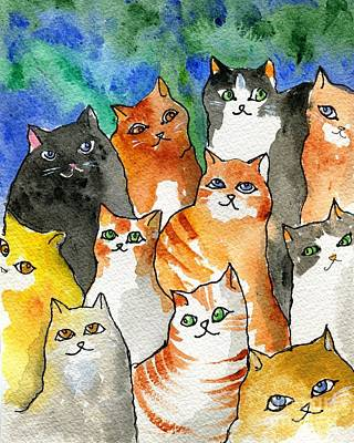 Many Cats Poster