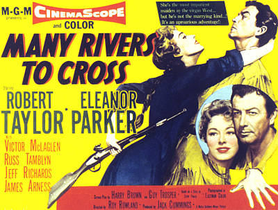 Many Rivers To Cross, Eleanor Parker Poster by Everett