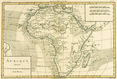 Map Of Africa Poster by Guillaume Raynal