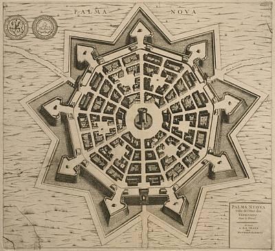 Map Of Palmanova Poster