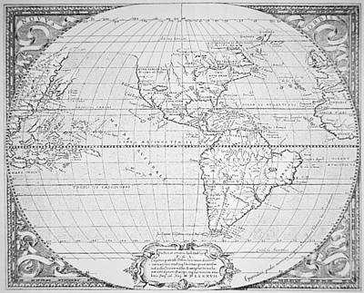 Map Of The New World 1587 Poster