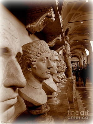 Poster featuring the photograph Marble Busts. Vatican by Tanya  Searcy