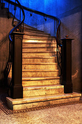 Marble Stairs Poster by Michelle Joseph-Long
