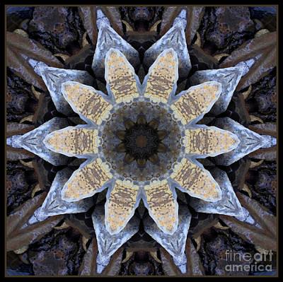 Marbled Mandala - Abstract Art Poster