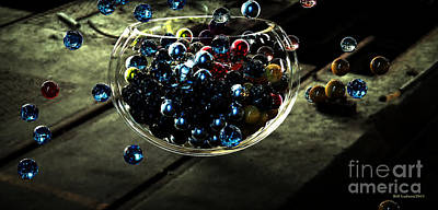 Marbles In A Bowl Poster