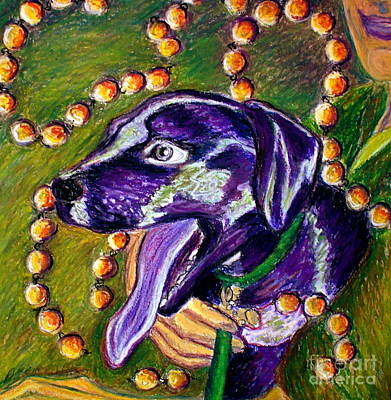 Poster featuring the painting Mardi Dog by D Renee Wilson