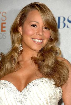 Mariah Carey In The Press Room Poster by Everett