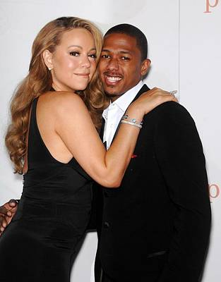 Mariah Carey, Nick Cannon At Arrivals Poster