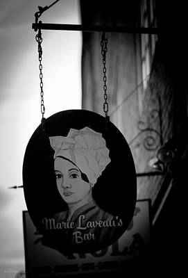 Poster featuring the photograph Marie Laveau's Bar by Shelly Stallings