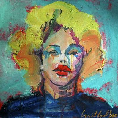 Poster featuring the painting Marilyn 2010 by Les Leffingwell