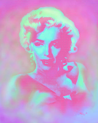 Marilyn By Reb Poster