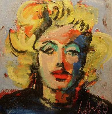 Poster featuring the painting Marilyn by Les Leffingwell