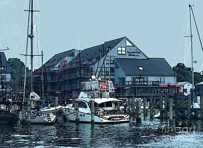 Marina On Chesapeake Bay Poster