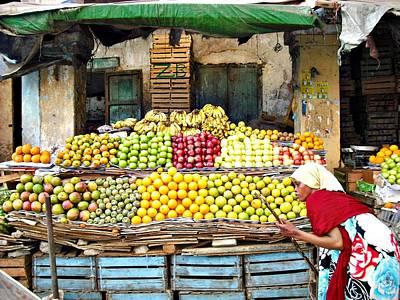 Market Of Djibuti-1 Poster by Jenny Senra Pampin