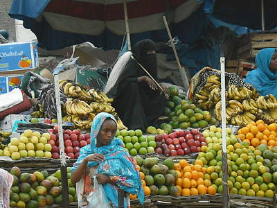 Market Of Djibuti-2 Poster by Jenny Senra Pampin