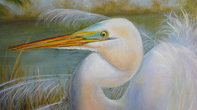 Poster featuring the painting Marsh Master by Marlyn Boyd