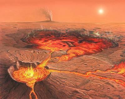 Martian Volcanos Poster by Chris Butler