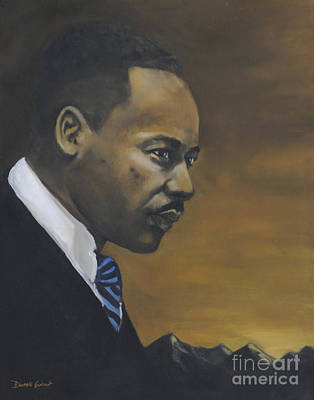 Poster featuring the painting Martin Luther King Jr - From The Mountaintop by Dwayne Glapion