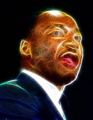 Martin Luther King Jr. Poster by Paul Van Scott