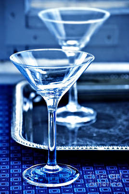 Martini Glasses Poster
