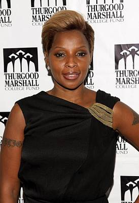 Mary J. Blige At Arrivals For Thurgood Poster by Everett