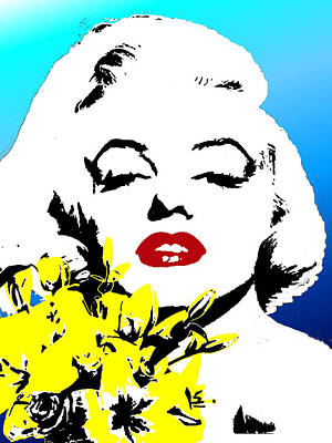 Poster featuring the painting Marylin Monroe by Jann Paxton