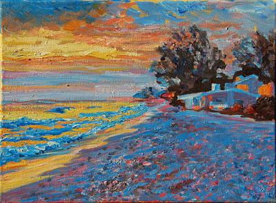 Masasota Key Sunset Poster by Thomas Bertram POOLE