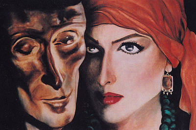Poster featuring the painting Mask And Muse by Irena Mohr