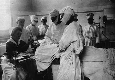 Masked Surgeons Perform An Operation Poster by Everett