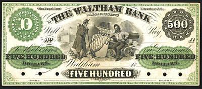 Massachusetts Money 1862 Poster