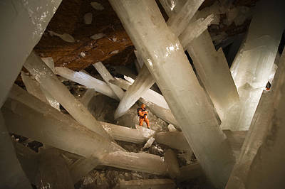 Massive Beams Of Selenite Dwarf An Poster
