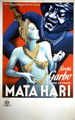 Mata Hari, Greta Garbo, 1931 Poster