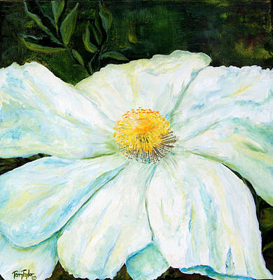 Poster featuring the painting Matilija Poppy by Terry Taylor