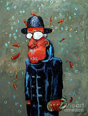 Matisse Juggling Fish In The Rain In His Brain Poster