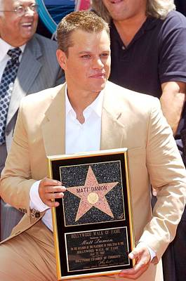 Matt Damon At The Induction Ceremony Poster by Everett