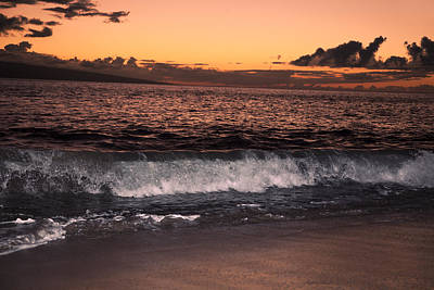 Maui Sunset Poster by Dave Fleetham