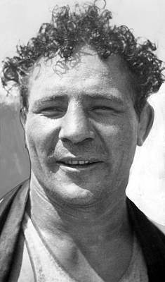 Max Baer Sr. 1909-1959 During Workout Poster by Everett