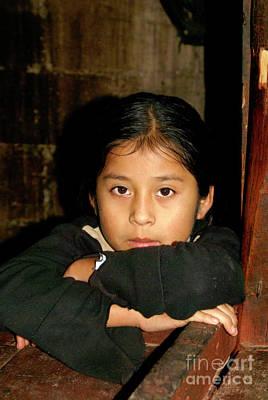 Poster featuring the photograph Maya Girl Coban Guatemala by John  Mitchell