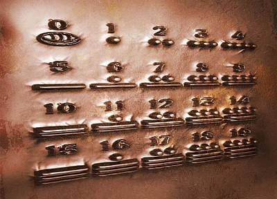Maya Numerals, Artwork Poster by Victor Habbick Visions
