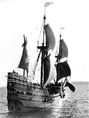 Mayflower II, Plymouth Harbor Poster by Everett