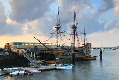 Mayflower II In Plymouth Harbor Poster by John Burk