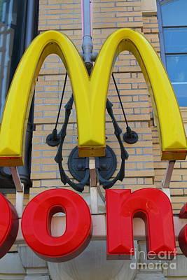 Mcdonalds Hamburger Restaurant . Fishermans Wharf . San Francisco California . 7d14250 Poster