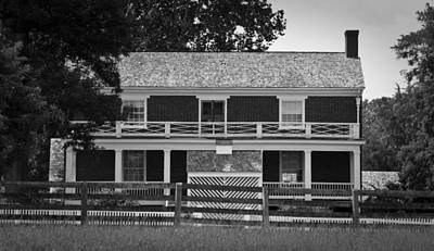 Mclean House Bw Appomattox Virgnia Poster by Teresa Mucha