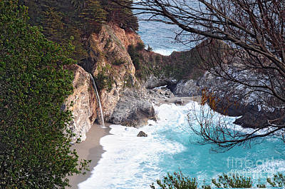 Mcway Falls In Spring Poster