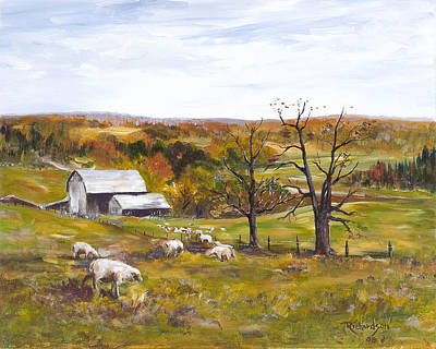 Poster featuring the painting Meadow Life by George Richardson