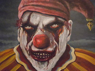 Poster featuring the painting Meat Clown by James Guentner
