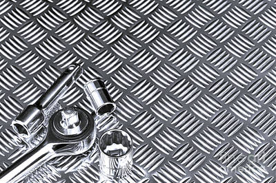Mechanical Socket Background Poster by Richard Thomas