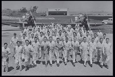 Mechanics In Uniform With Airplanes, Circa 1930 Poster