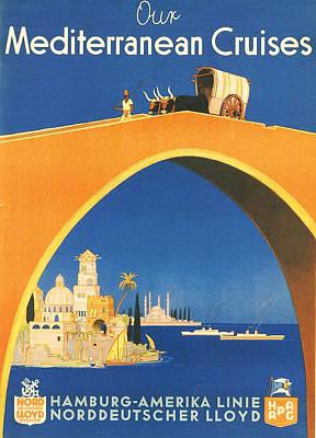 Mediterranean Cruising Poster by Georgia Fowler