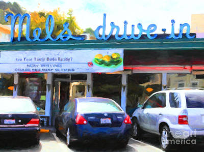Mel's Drive-in Diner In San Francisco - 5d18014 - Painterly Poster by Wingsdomain Art and Photography